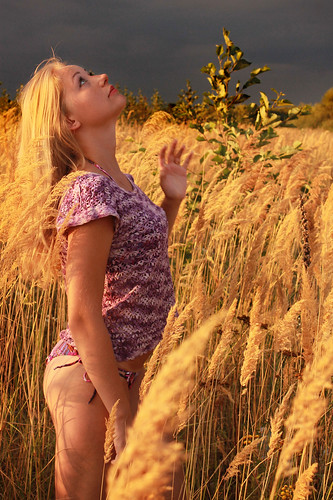 sunset sexy nature girl field canon pretty ukraine blond thunderstorm knitted ivanofrankivsk