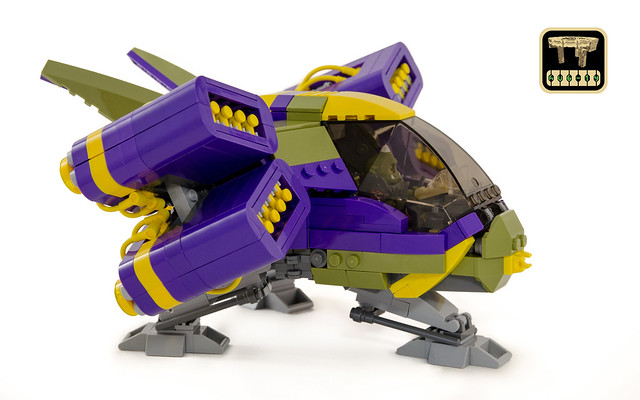 LEGO Spaceship - Syzygy (side view)
