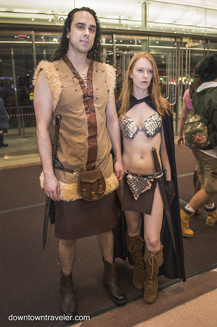 NY Comic Con Couples Costume Conan Red Sonja