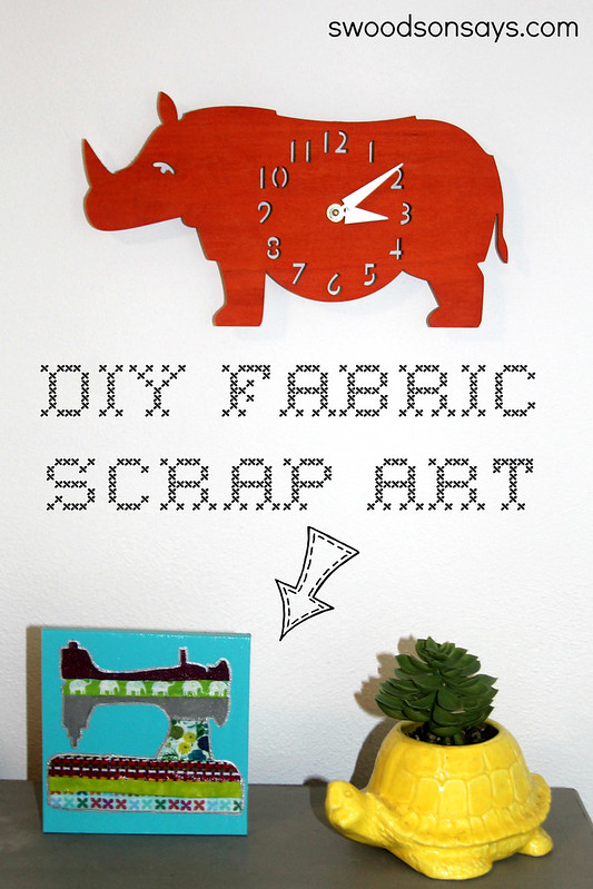 DIY Fabric Scrap Art - Swoodson Says