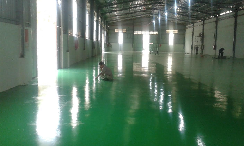 Công ty Phong phú chuyên thi công sơn sàn, nền nhà xưởng tại hcm