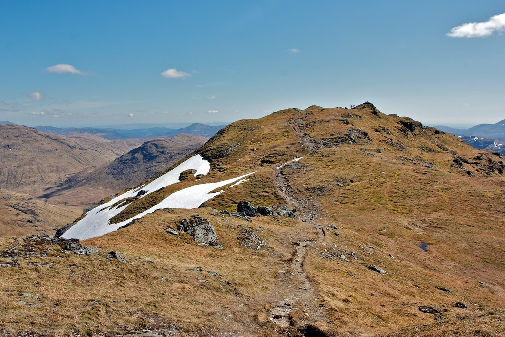 Looking back to Beinn Chabhair's summit