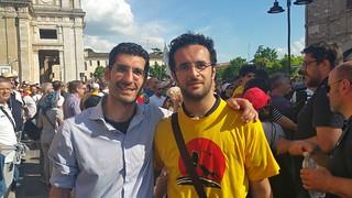 Emanuele Scagliusi e Giuseppe L'Abbate alla marcia cittadinanza grillini