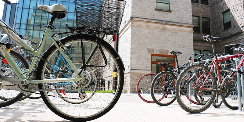 It's spring and that means more bikes around campus! (Photo by Charis Ho)
