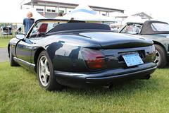 race car(1.0), automobile(1.0), automotive exterior(1.0), tvr cerbera(1.0), vehicle(1.0), performance car(1.0), automotive design(1.0), tvr chimaera(1.0), antique car(1.0), land vehicle(1.0), convertible(1.0), supercar(1.0), sports car(1.0),