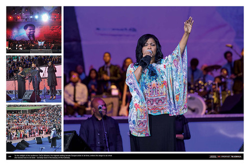 To the delight of the audience, Cece Winans, the highest-selling female Gospel artist of all time, enters the stage to do what she knows how to do best - worship God in the beauty of His holiness.
