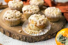 Mini Persimmon Coffee Cakes