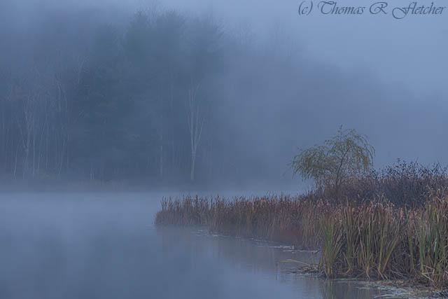 Autumn Mist on Lake