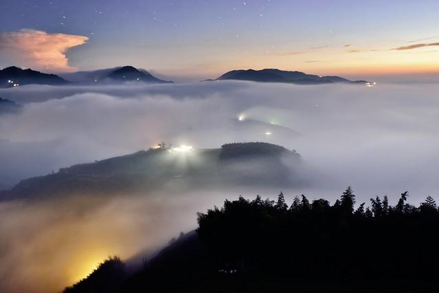 Sea of clouds at Mountain Dalun 大崙山雲海