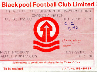 Liverpool vs Blackpool Select XI in aid of the Blackpool Mayors Fund, February 1983