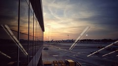 #holidays are over,  it's time to back @ home  #sunset @#jfkairport