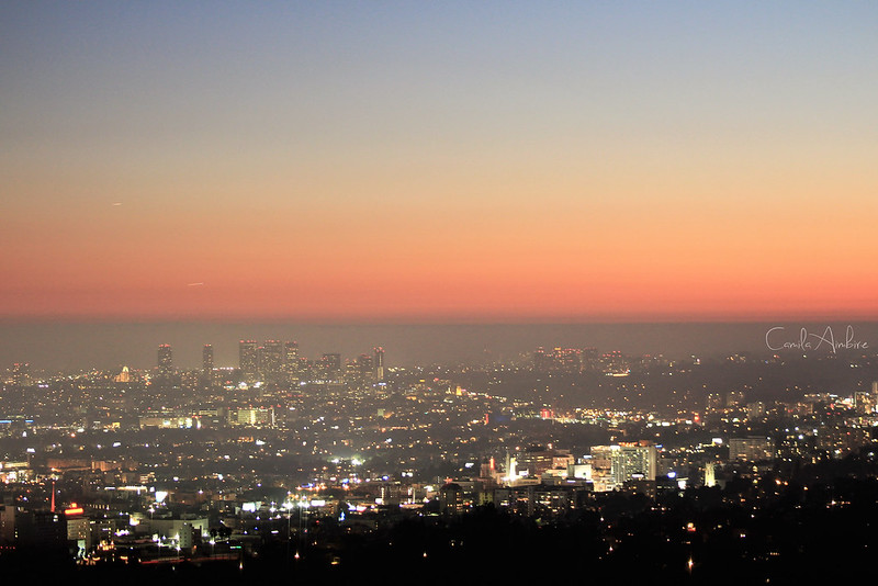 Sunset in LA from Griffith Observatory