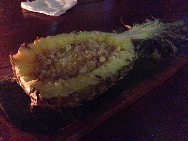 Shaka Hawaiian restaurantのパイナップルの甘い何か