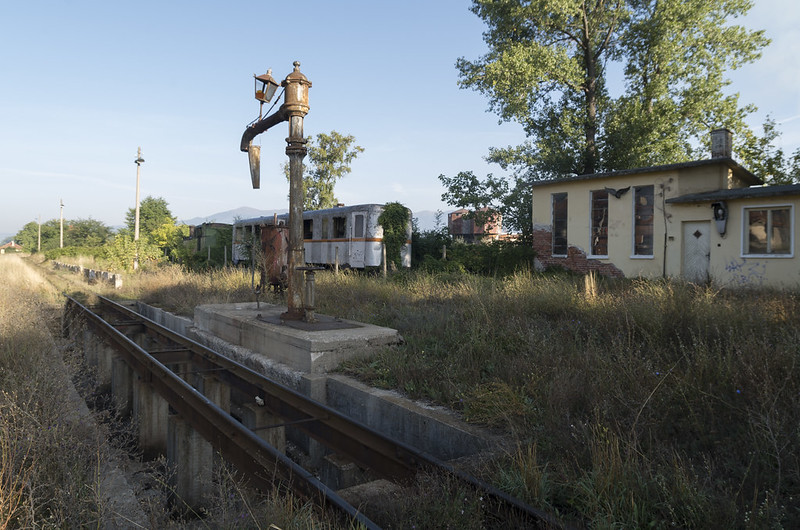 At the Bansko narrow gauge railway station, 15.09.2015.