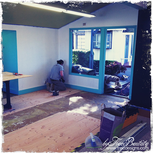 treiC designs studio 323-7_8- tyler installing the floor
