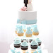 Pretty in blue cupcake tower
