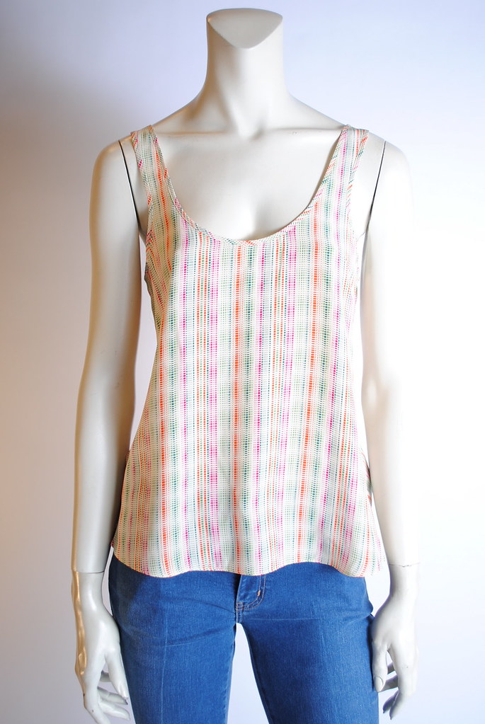 Ruched-Back Tank Top