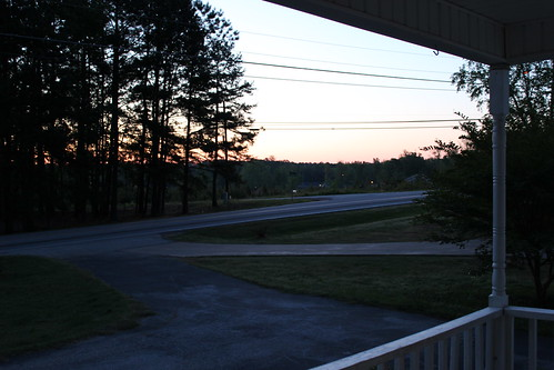 6:44 AM: View from my front porch