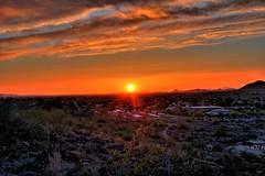 Phoenix, AZ Sunset - Thunderbird Park Arizona