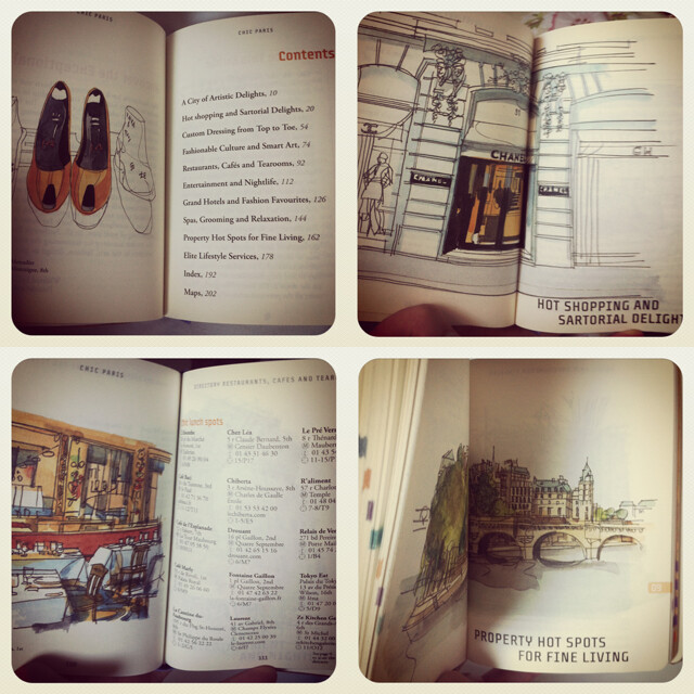 paris travel book guide book authentik chic paris