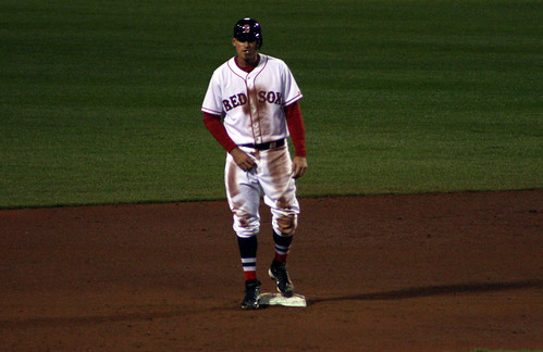 Middlebrooks after sliding into second