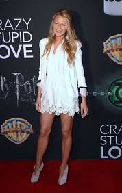 Blake Lively White Blazer Celebrity Style Fashion