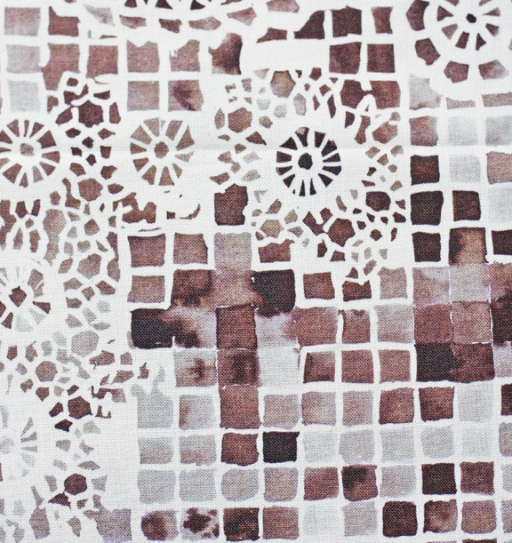watercolor mosaic detail