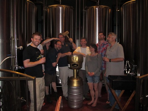 Local brewers ' kick' the keg at Mad Fox