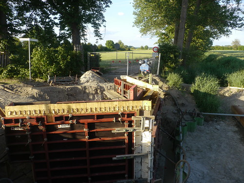 Baustelle Fahrradbrücke nach Mittenwalde