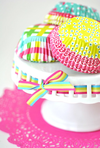 Bright cupcake wrappers