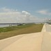 looking west on levee top towards Michoud Canal