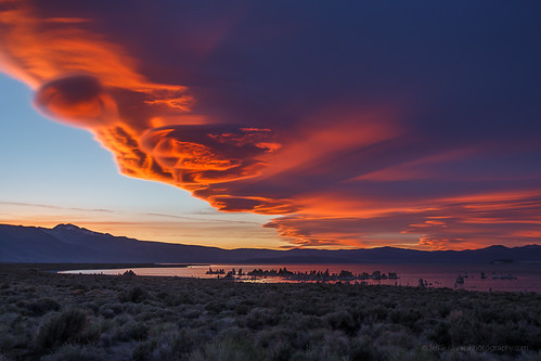 Lenticular Cloud over Mono Lake