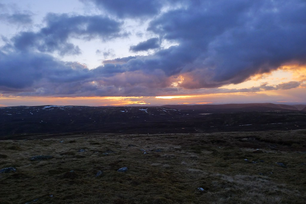 Monadhliath Sunset