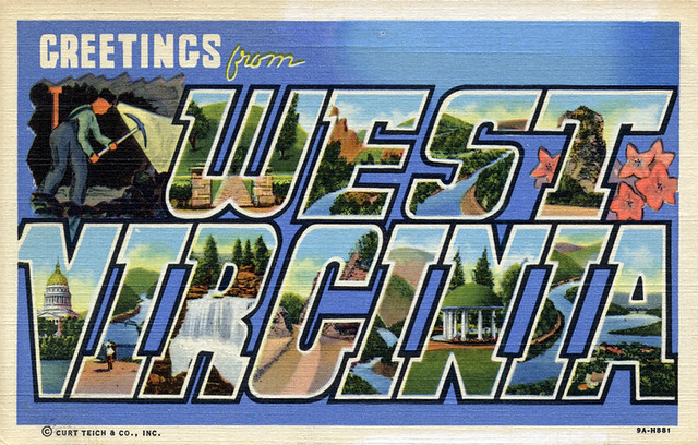 Greetings from West Virginia - Large Letter Postcard