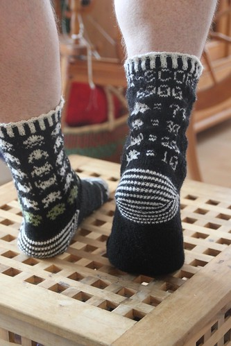 invader socks.