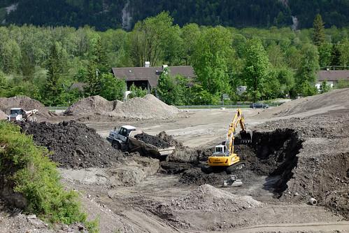 Baustelle Nordportal Tunnel Oberau