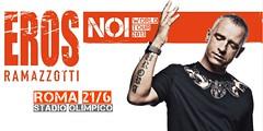 banner Eros Ramazzotti all'Olimpico di Roma