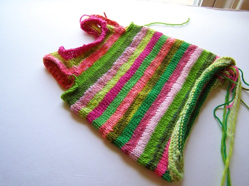 scrap stripes dress - 6 mo.
