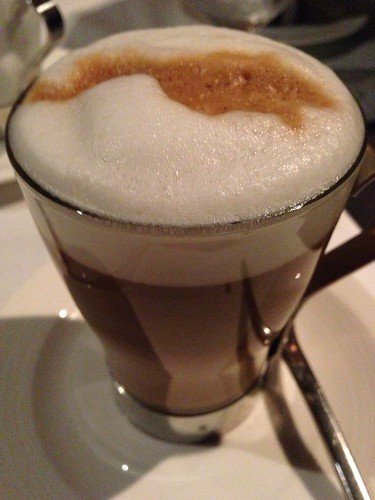 Post-Dinner Latte at LaBrezza, St. Regis Singapore