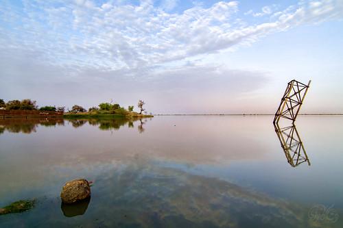 reflection sunrise landscape sudan nile khartoum alshajara hishamkarouri alrayalmasri
