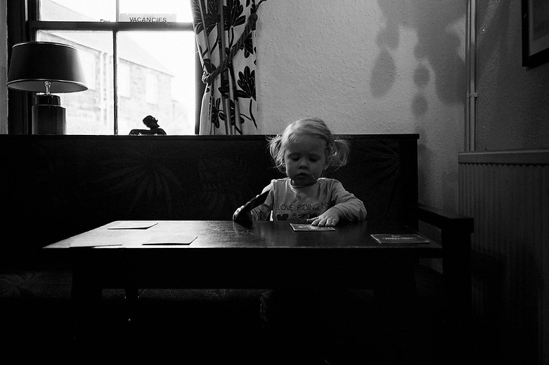 Connie at the table