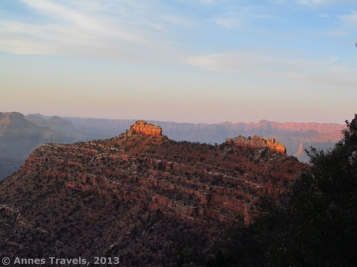 Sunset along the Grandview Trail in Grand Canyon National Park, Arizona