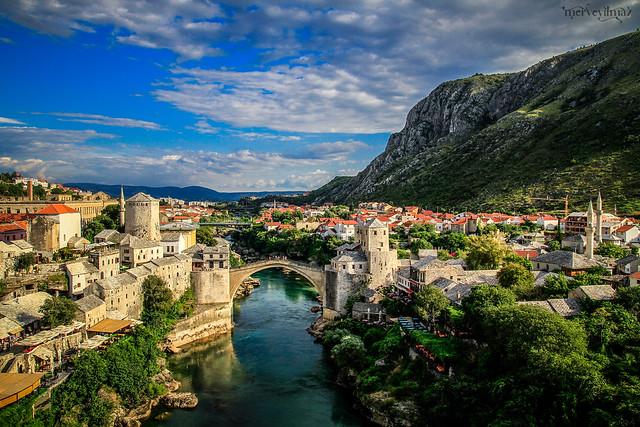 Ecdat yadigarı, savaşa(katliama) direnen dostluk köprüsü Mostar...