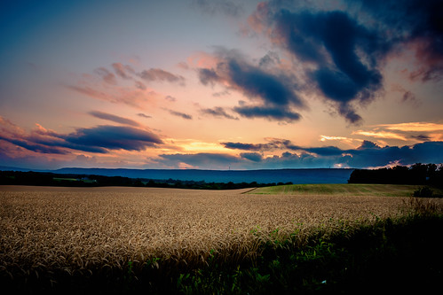 sunset sky farmland mkd