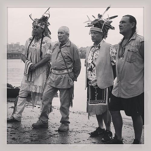 Haudenosaunee leaders begin the journey with the Thanksgiving Address