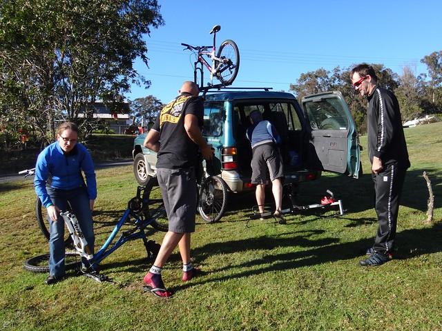 Unloading the Bikes