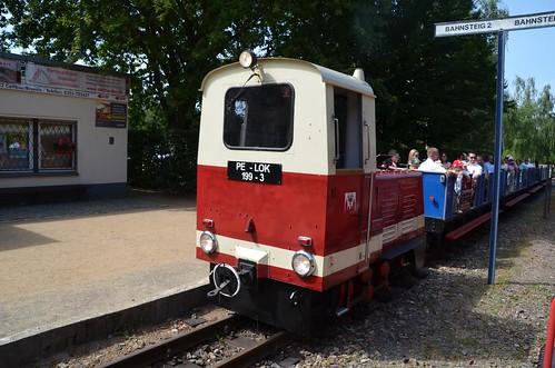 Lok 199-3 der Parkeisenbahn Cottbus