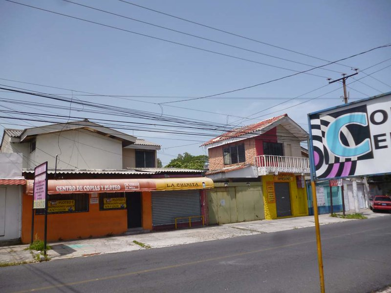 Closed shops in San Salvador