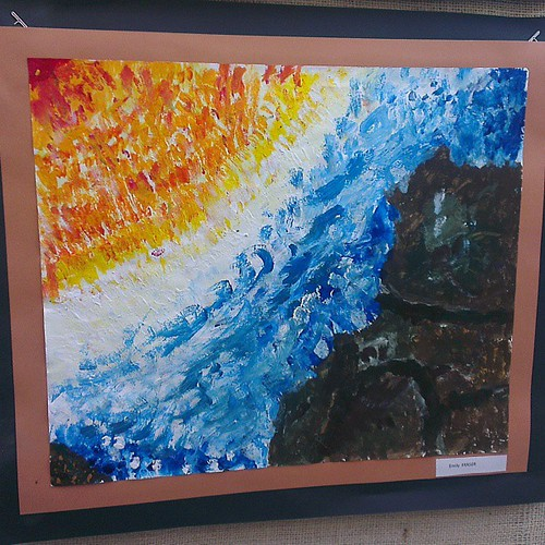 Grade 3/4 Young Impressionists art exhibit #school