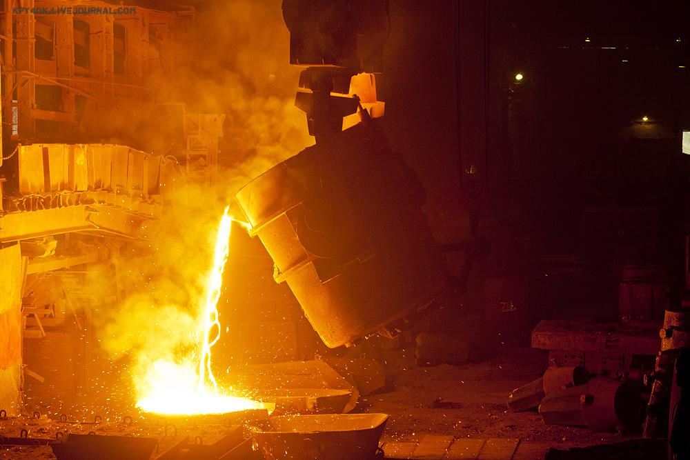 розлив стали, завод, фото, урал, блог